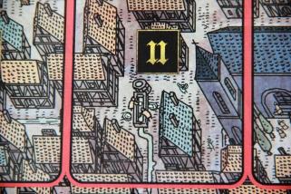 Codzienne czynności z życia miasta uwiecznione na planszy