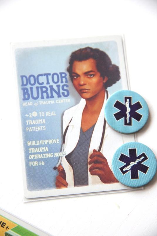 Karta lekarza z żetonami akcji medycznych